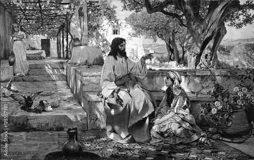 Leinwand Poster Christ with Maria and Martha