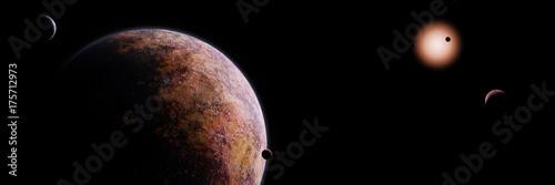 alien planets orbiting a star