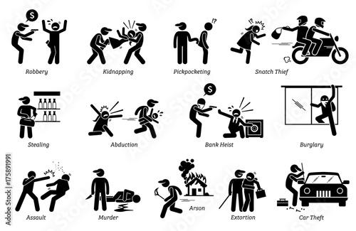 Stampa su Tela Crime and Criminal