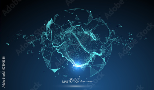 Photographie Futuristic globalization interface, a sense of science and technology abstract graphics