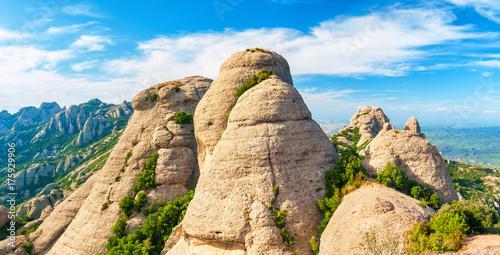 Mountains in Montserrat, Catalonia Spain