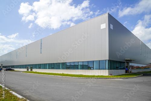 Fotografie, Tablou Factory building warehouse