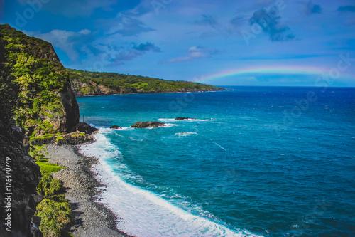 Stampa su Tela Maui Beach Rainbow