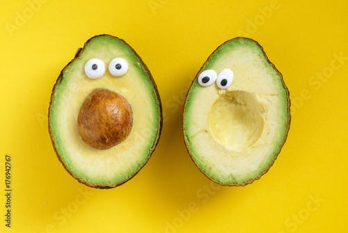 Foto funny avocado