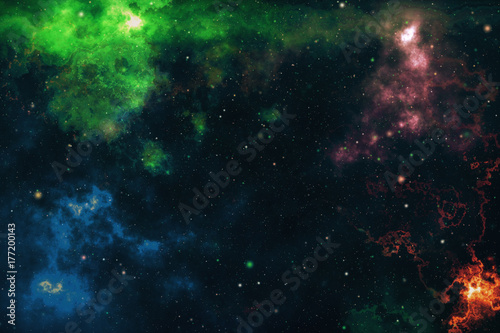 High definition star field background . Starry outer space background texture . Colorful Starry Night Sky Outer Space background 3d illustration