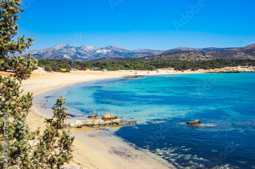 Aliko beach on Naxos island, Cyclades in Greece фототапет