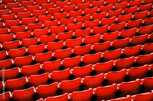 Платно Red football stadium seat.
