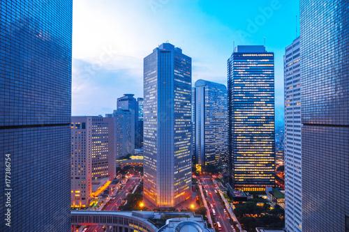 Obraz na plátne modern buildings in midtown of modern city