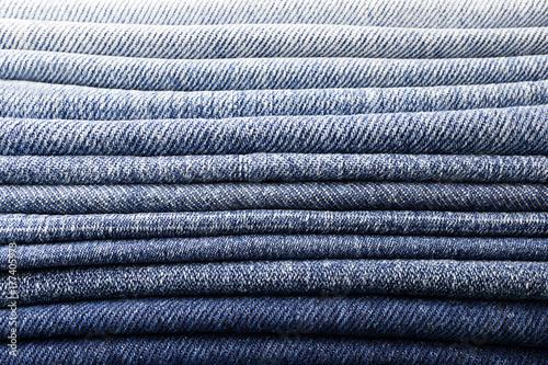 Canvas Print background pile of denim fabric texture