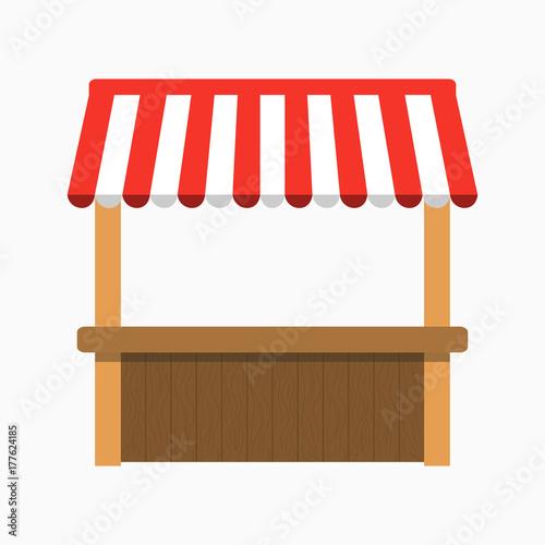 Stampa su Tela Street stall with awning