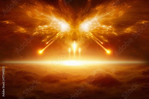 Vászonkép End of the world, battle of armageddon
