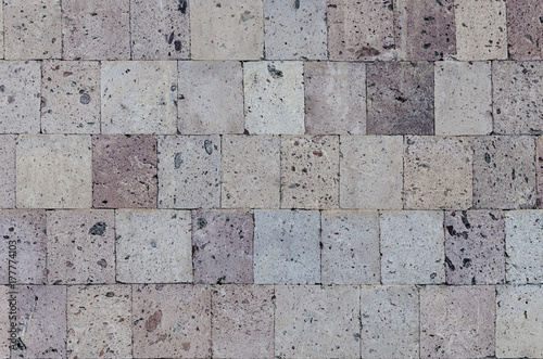 Canvas Print Wall of pink tuff blocks