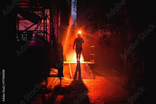 backstage light atmosphere Fototapet