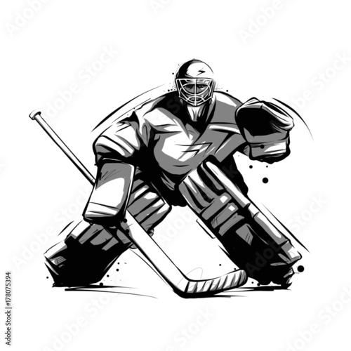 Fotografía ice hockey player goalkeeper