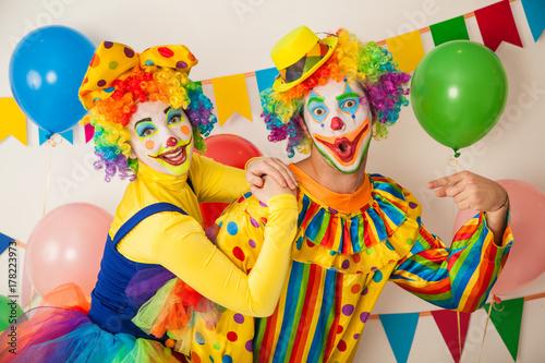 Two cheerful clowns Tapéta, Fotótapéta