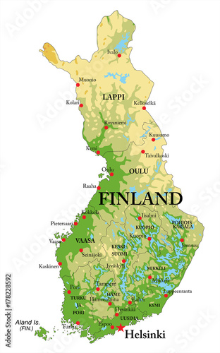 Photo Finland Relief map