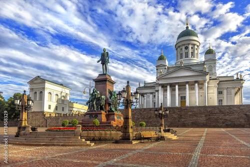 Photo Senate square (Senaatintori) in Helsinki, Finland.
