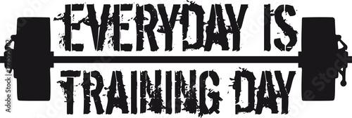 Hantle na co dzień to trening siłowy na siłowni, mocny trening fajny design logo podnoszenie ciężarów kulturysta