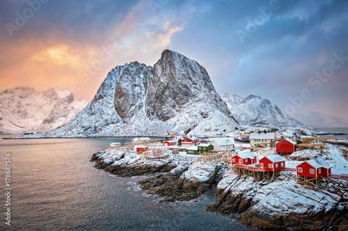 Wallpaper Mural Hamnoy fishing village on Lofoten Islands, Norway