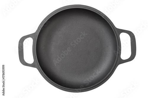 Stampa su Tela cast-iron frying pan isolated