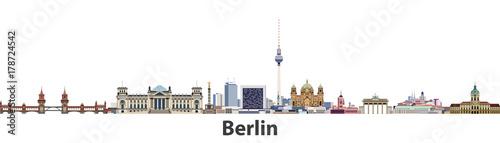 Photo Berlin vector city skyline