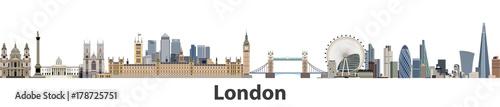 Fototapeta premium Londyn wektor panoramę miasta