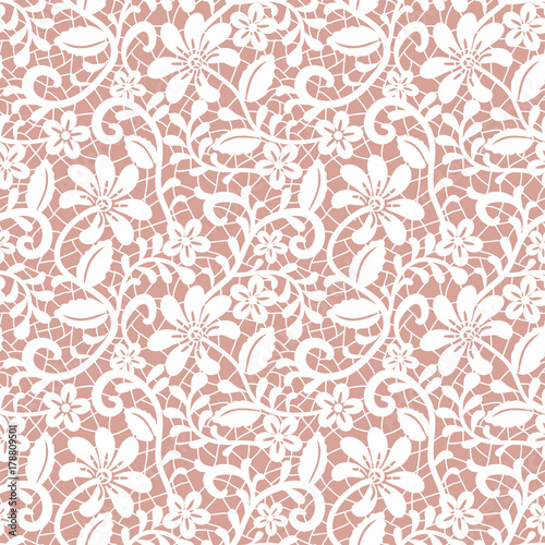 Canvas Print Seamless white lace