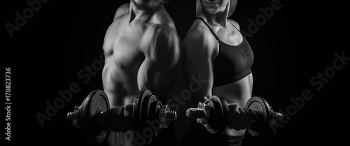 Tableau sur Toile Workout Training Fitness