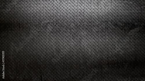 Fotografia, Obraz rusty black diamond plate background