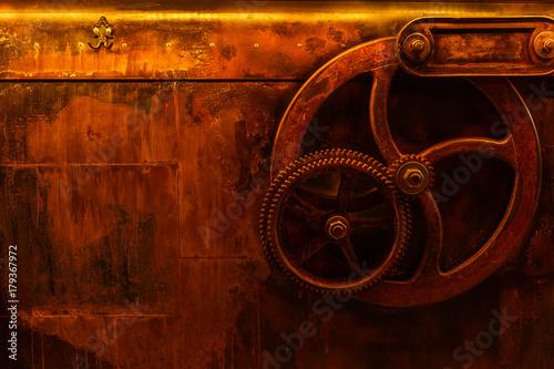 Carta da parati background vintage steampunk