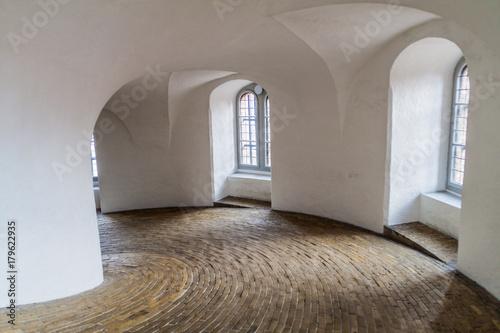 Vászonkép Spiral ramp of the Round tower in Copenhagen, Denmark