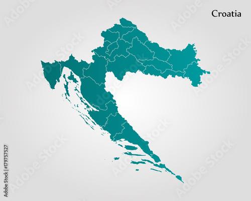 Photo Map of Croatia