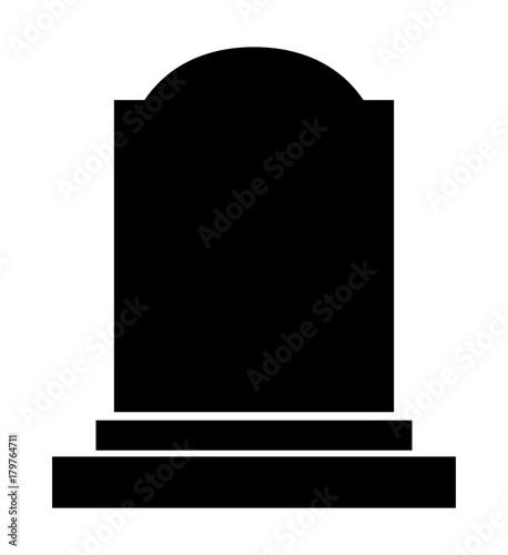 Canvas-taulu gravestone halloween icon isolated on white background