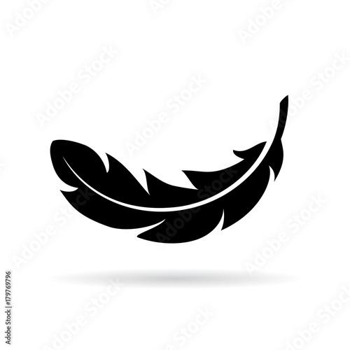 Stampa su Tela Feather vector icon