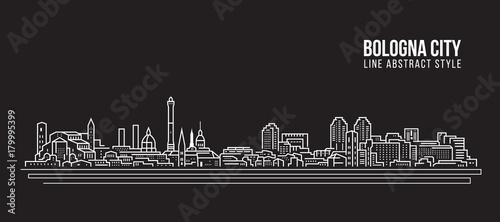 Canvas Print Cityscape Building Line art Vector Illustration design - Bologna city