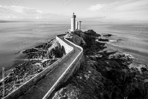 Lighthouse Petit Minou in B&W - Brittany.