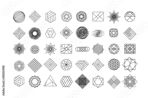 Fotografia, Obraz Set of geometric shapes