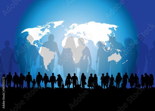 Worldwide refugees and migration Fototapeta