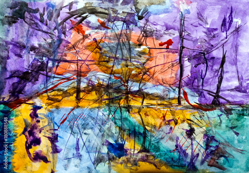 Abstraction in watercolor