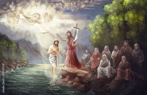 Canvas Print Baptism of Jesus