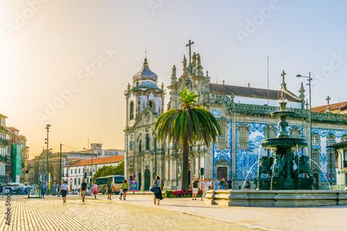 Fototapeta View of the igreja do carmo church in Porto, portugal.