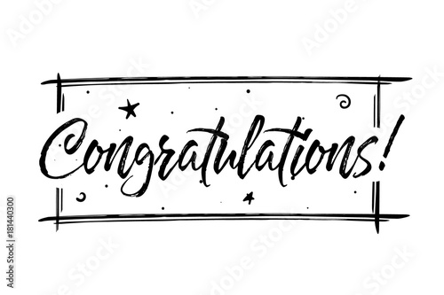 Congrats, Congratulations card Fototapet