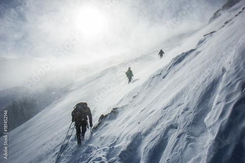 Altaу mountains, Aktru, climbing Fototapeta