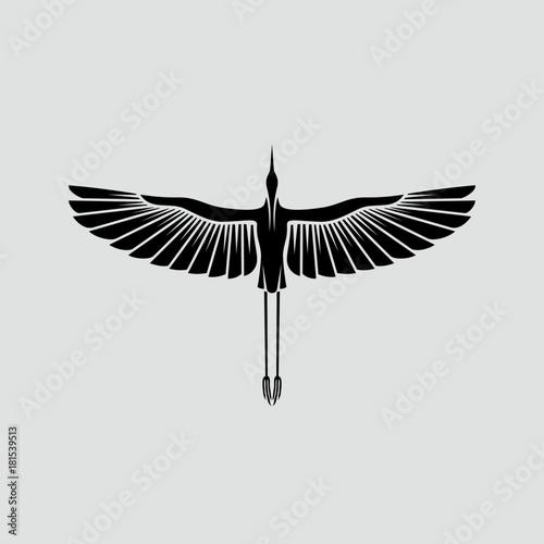 Herons Logo Template Fototapet