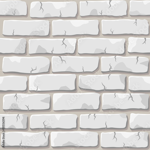 Nice vector white brick wall seamless square pattern