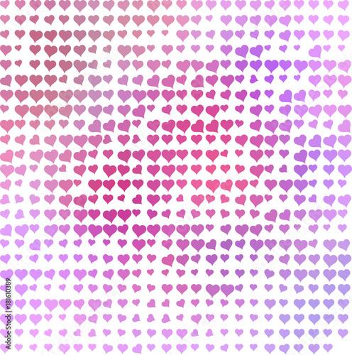 Photo hartjes patroon met roze rood en paars tinten