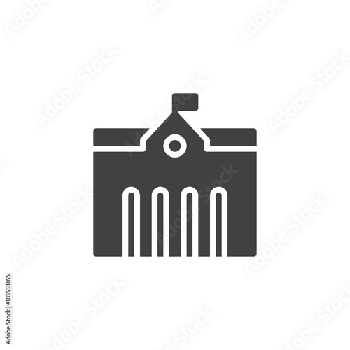 Foto Town city hall icon vector, filled flat sign, solid pictogram isolated on white