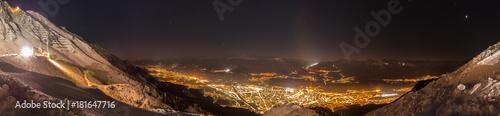 Αφίσα Panorama over Innsbruck, the Capital of the Alps, under the stars