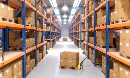 Fotografía warehouse indoor view