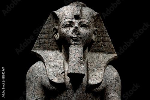 Wallpaper Mural Pharaoh egyptian god dead religion symbol stone statue